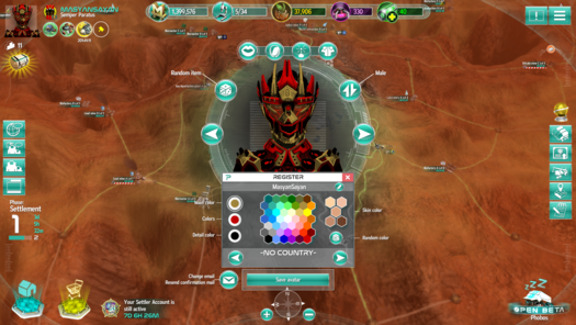 Screenshot (avatar Customisation)<br>